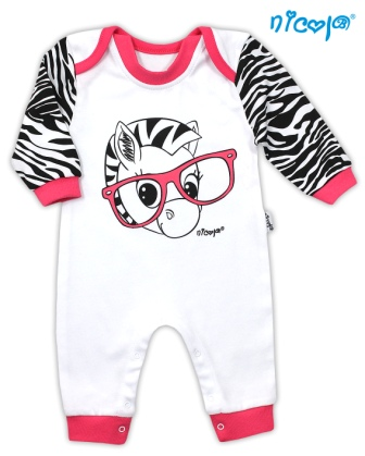 b55c7642401c Akcia. Overal bavlna Nicol biely - Zebra
