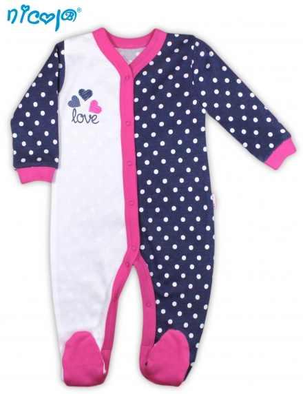 Dojčenský bavlnený overal Nicol - kolekcia Love 7f7b1a118d8