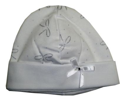 7fd4c4392 Čiapka pre novorodenca biela - obvod hlavy 40 cm
