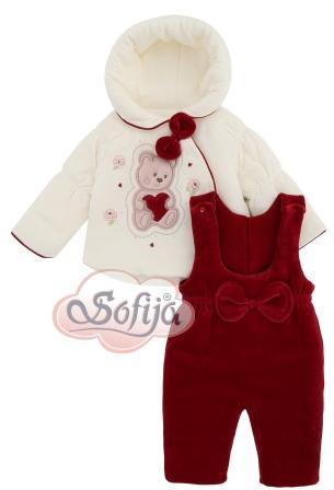 Zimná súprava smotanová   červená SOFIJA - Amisia 69ca054f98b