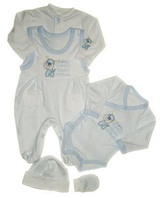 c3bb86f6c46e Súprava do pôrodnice 5 dielna biela   modrá