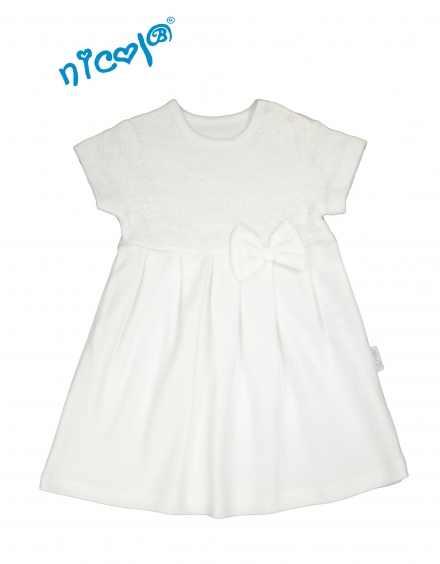 8b6a827ed055 Dojčenské šaty biele krátky rukáv - kolekcia LADY