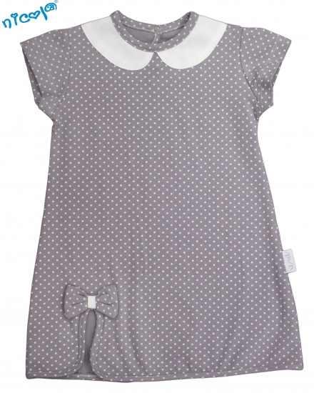 1dd76f7dbd66 Dojčenské šaty Nicol sivé - kolekcia Paula
