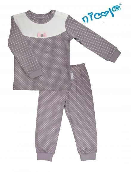 22908b9a2713 Detské pyžamo Nicol sivé   biele - kolekcia Paula