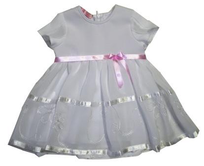 b4120b72ae74 Šaty mušelínové s kr. rukávom biele - Marlena