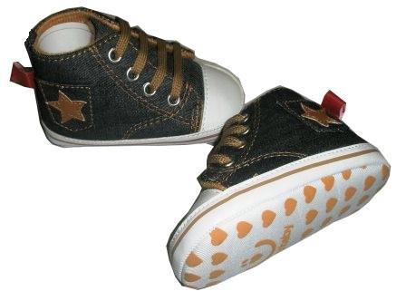 Detské topánočky Bobo Baby jeansové   hnedá hviezdička ca1cd8c3fef