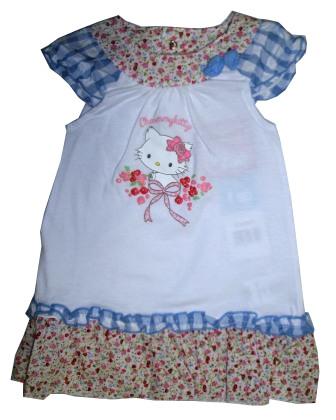 f85e8b38a1cd Letné šaty bez rukávov biele   volániky - Hello Kitty