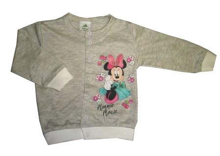 7fab6a95d4d3 Bavlnený kabátik   mikinka sivá Disney - Minnie
