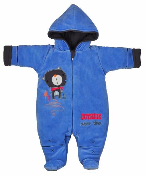 Zimná kombinéza s kapucňou sv. modrá   sivá cb28c7f5819