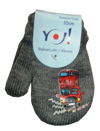 cca6157e9136 Zimné rukavičky s palcom sivé - dĺžka 10cm