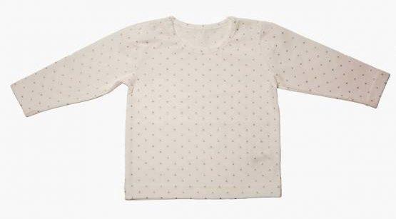 Bavlnené tričko smotanové   strieborné hviezdičky - Minetti 1ce9781d14a