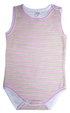 274547813b41 Akcia. Body na ramienka biele   ružové a zelené prúžky