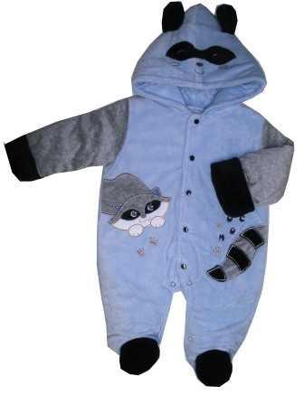 Zimná kombinéza s kapucňou sv.modrá   sivá - Lemur 26152436eb5