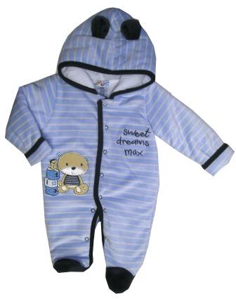 Zimná kombinéza s kapucňou sv. modrá - Sweet dreams 4c8f5597733