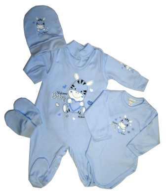 78ccf4b231a0 5-dielna súprava do pôrodnice modrá - Welcome baby