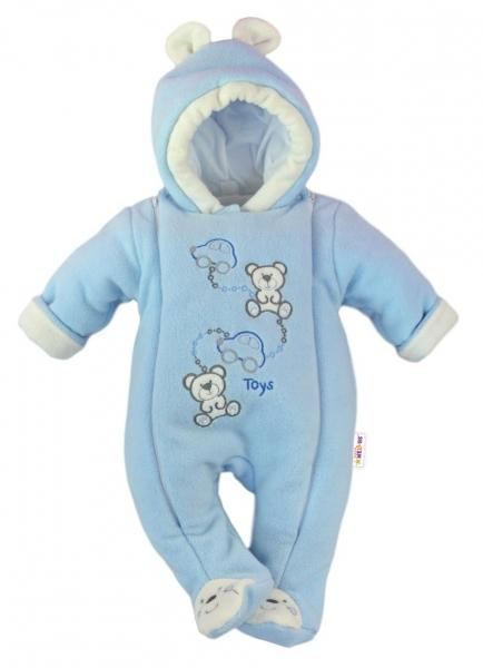 Zimná kombinéza s kapucňou sv. modrá - Toys 0d0750208fa