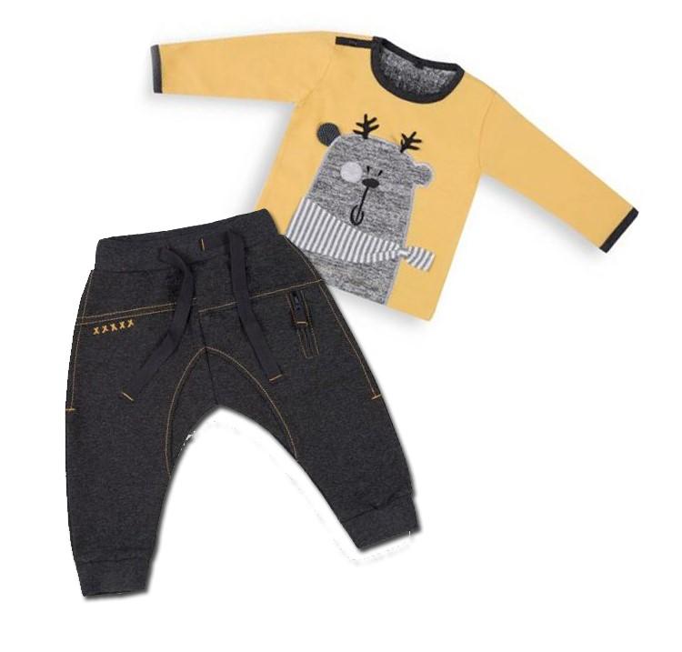 Trendová súprava bavlnená nohavice + tričko - Forest 84c7e5e81d1
