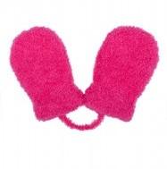 46a25e3bde6b Zimné rukavičky pre novorodenca ružové so šnúrkou
