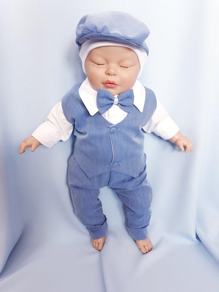 81e884104afb 5 dielna sada nielen do krstu biela   modrá pre chlapca