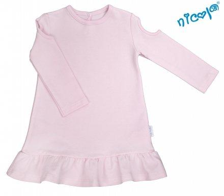 016a00758527 Dojčenské šaty Nicol sv. ružové - kolekcia Paula