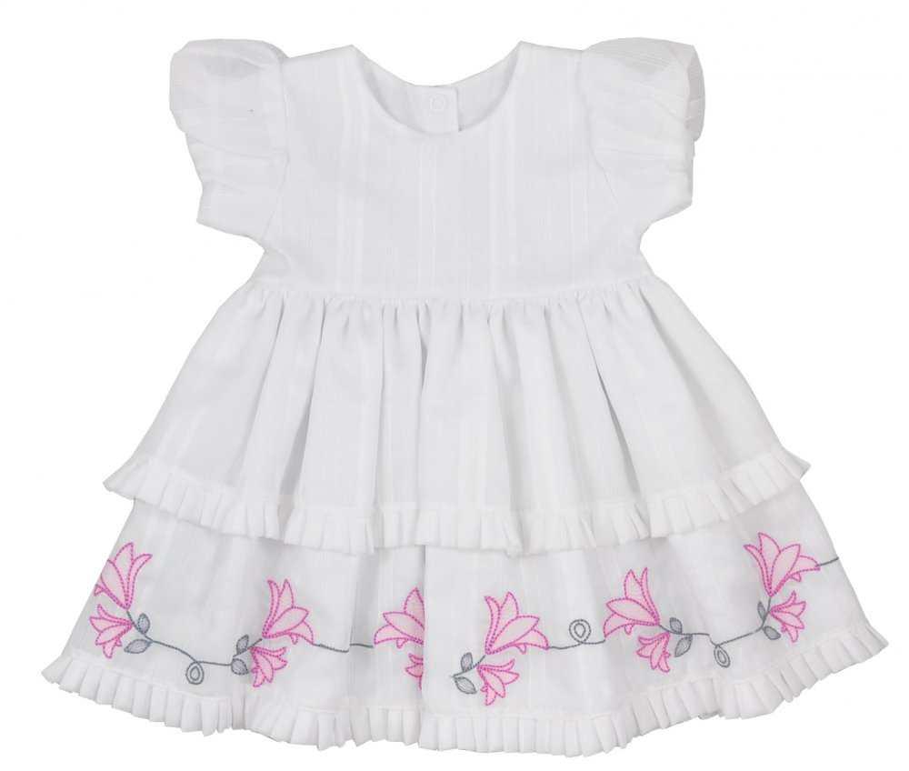 8d4316bf833a Letné bavlnené šaty s kr. rukávom biele -Zvončeky