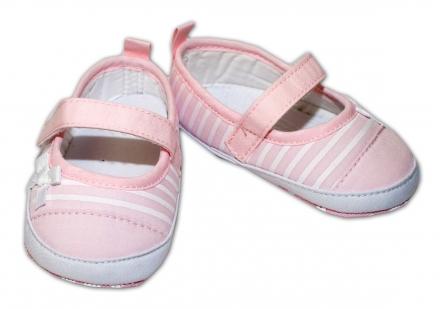 afdcc4c59091 Topánky   capačky sv. ružové - biely prúžok