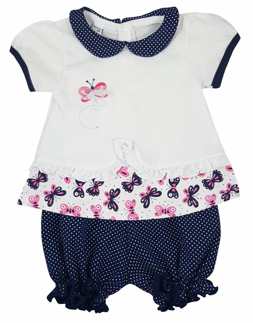 49d7ebd94d74 Šaty + nohavičky pre novorodenca - Motýle