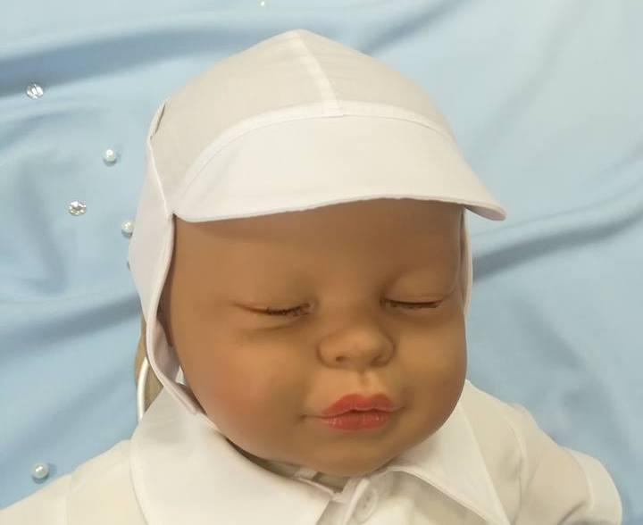 9dfd43cef Bavlnená čiapka biela so šiltom, obv. hlavy 38 cm ...